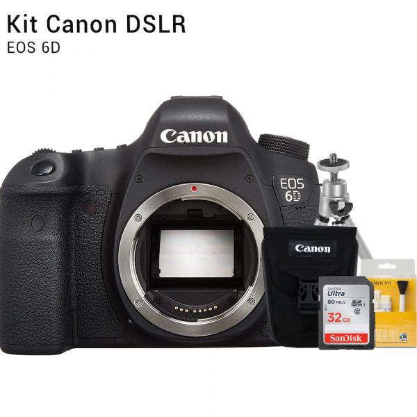 Canon 6D Corpo - Câmera DSLR | Brindes: Bolsa, Cartão 32GB, Mini Tripé e Kit Limpeza