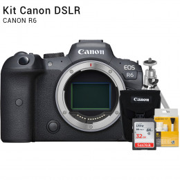 Canon R6 Corpo - Câmera Mirrorless    Brindes: Bolsa, Cartão 32GB, Mini Tripé e Kit Limpeza