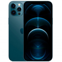 "iPhone 12 Pro Max 256GB Pacific Blue - Super Retina XDR 6,7"", Câmera Tripla 12MP"