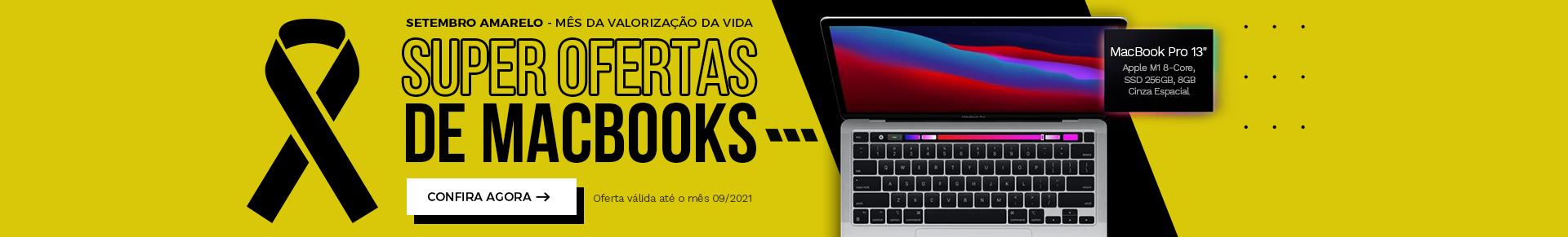 Setembro Amarelo 2021 - MacBook Pro MYD92 - Cinza Espacial